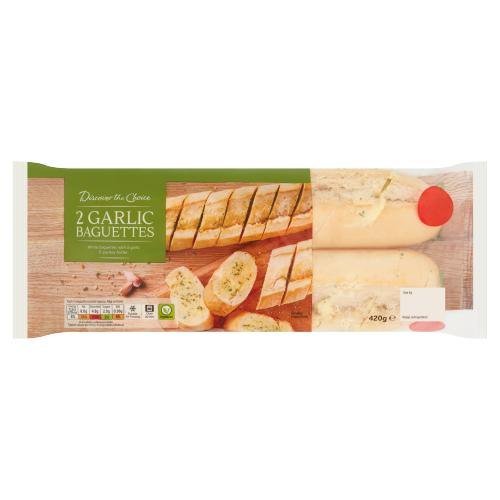 Discover the Choice 2 Garlic Baguettes 420g