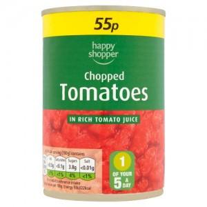 Happy Shopper Chopped Tomatoes PM59