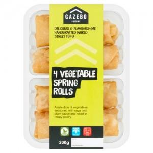 Gazebo Cuisine 4 Vegetable Spring Rolls 200g