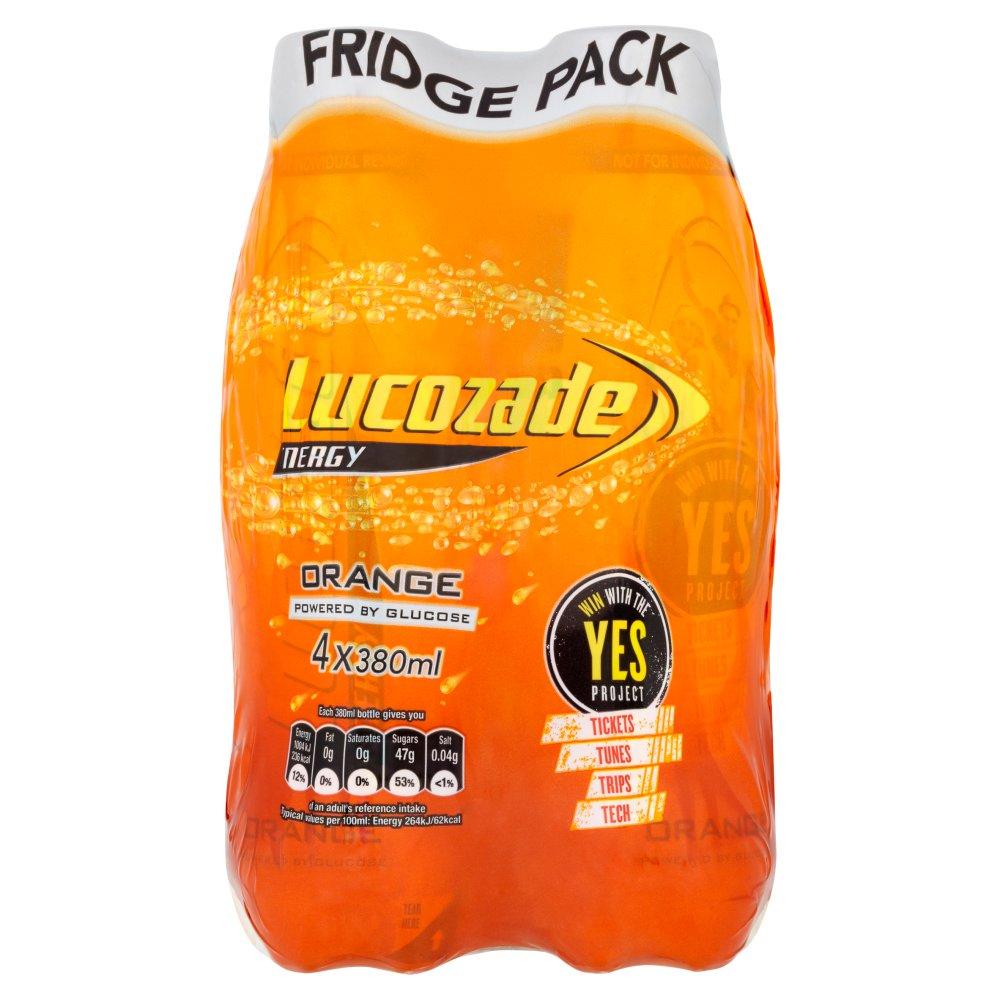 Lucozade Energy Orange Fridge Pack 4 x 380ml