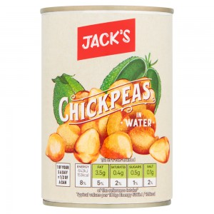 Jack's Chickpeas in Water 400g