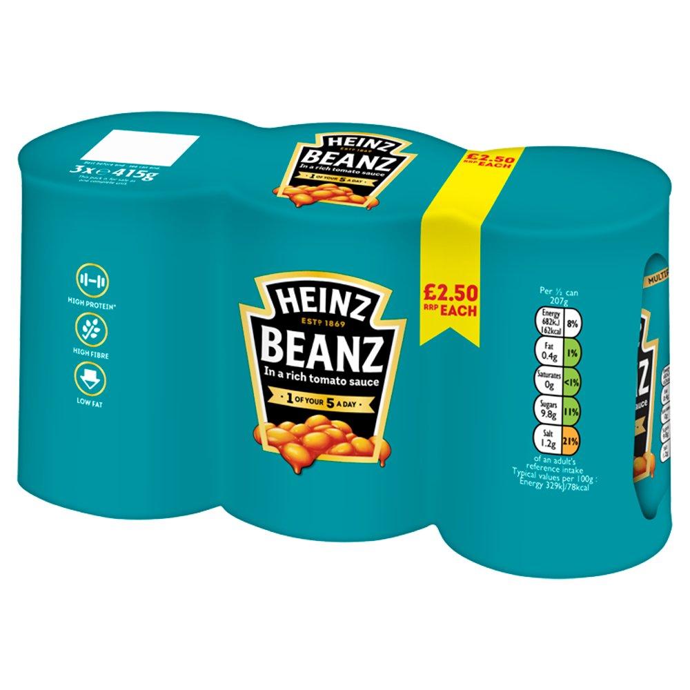 Heinz Beanz 3x415g