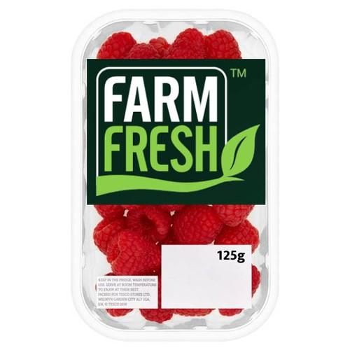 Farm Fresh Raspberries 125g